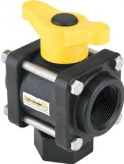 Banjo 3 Way Ball Valve - L Port 9901-V100BL